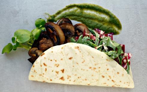 mushroom-taco